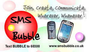 sms bubble business card