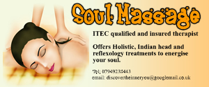 soul massage business card