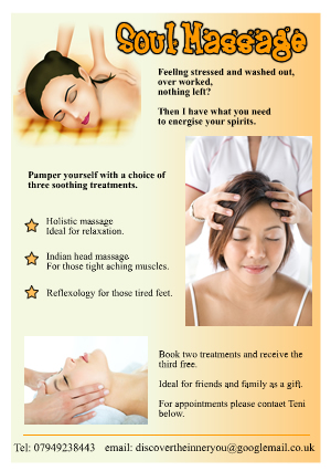 soul massage leaflet