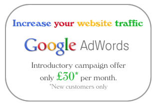 Google Adwords advert